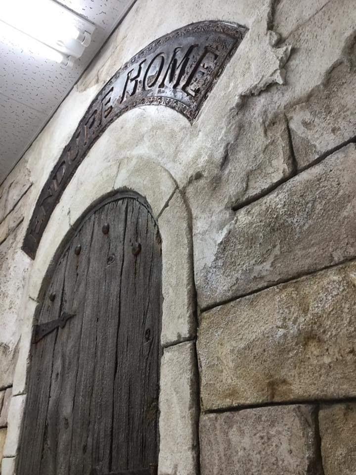 A様事務所壁面モルタル造形
